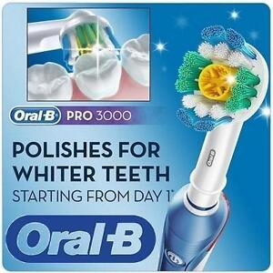 NEW ORAL-B ELECTRIC TOOTHBRUSH - 102528036 - Pro 3000 Electronic Power Rechargeable Battery Electric Toothbrush