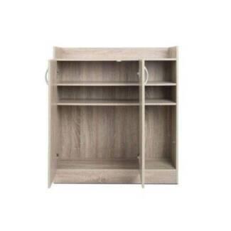 2 Doors Shoe Cabinet Storage Cupboard White