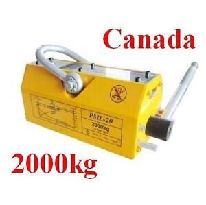 Used 2000KG Steel Magnetic Lifter Crane Hoist Heavy Duty 170452
