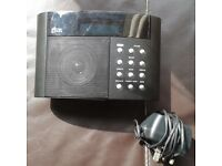 DAB radio with mains adaptor - working perfectly