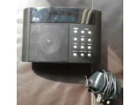 DAB radio with mains adaptor - working perfectly - selling other items