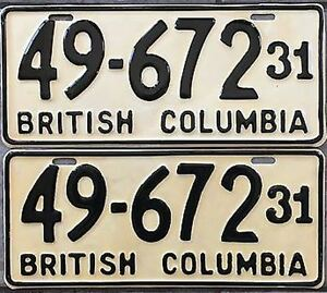 =Classic Car? Vintage Collector License Plates = 1920's - 1970's