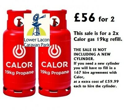 2 x 19kg CALOR GAS Propane Bottle Refill (COLLECTION ONLY,OPEN 7 DAY) £56