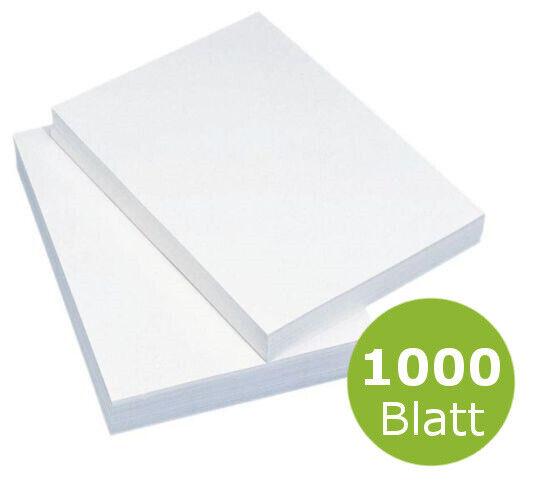 1000 Blatt Kopierpapier Druckpapier Universal DIN A4 Papier weiß