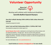 Special Olympics - Volunteer Opportunity