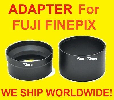 Camera Lens Adapter Tube For S8300 S8500 Fuji Fujifilm Finepix 72mm: 2 Part