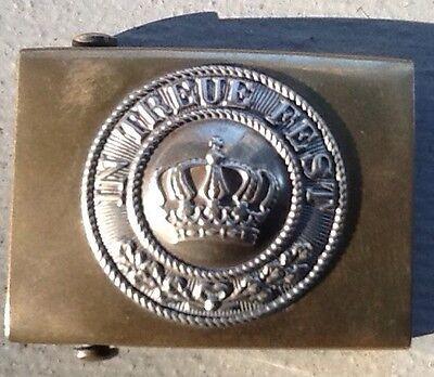 Imperial German, Early WW 1, Enlisted Mans Brass Belt Buckle, Kingdom of Bavaria