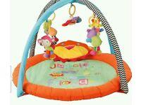 Baby play mat gym jungle animals