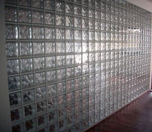 Vetromattone trasparente ondulato 19x19x8 cm vetrocemento - Finestra vetrocemento ...