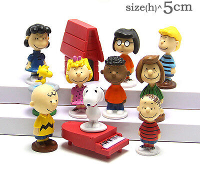 12pcs Peanuts Snoopy Charlie Brown Lucy Franklin Figure Figurine Cake Topper Toy - Charlie Brown Cakes