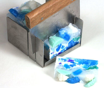 """Soap Mitre Box Miter Box W 2 Slots For 1"""" & 2"""" Cuts. 5"""" x 4 3/4"""" High. W Cutter"""