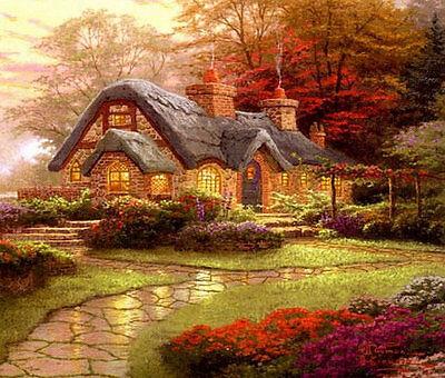 Thomas Kinkade Cottage Colour Cross Stitch Chart