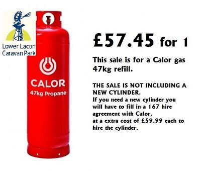 47kg CALOR GAS Propane Bottle Refill (COLLECTION ONLY,OPEN 7 DAY) from £55 each