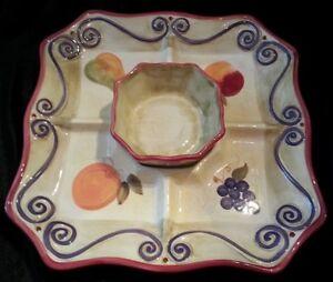 Fruit Motif Veggie 'n Dip Set
