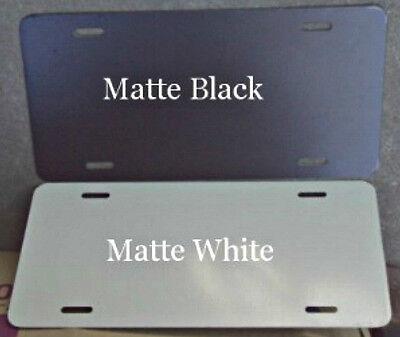 25 Pcs. .040 Gloss White Matte Black Aluminum License Platecar Tag Blanks