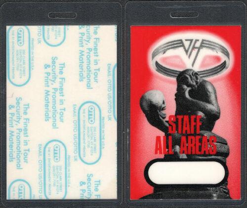 Super Rare Van Halen OTTO Laminated Staff Pass from the OU812 Tour