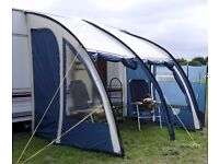 Caravan Porch Awning with spare poles and repair kit SOLD SOLD SOLD