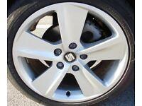 "Seat Leon genuine FR alloys 17"""