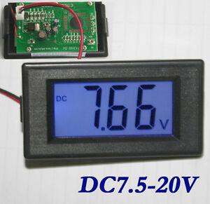 New Digital-Panel-Meter Voltmeter Spannungsanzeige mit LCD Blau DE