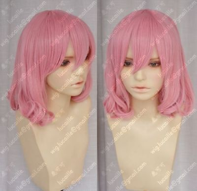 NEW Sell! New Short pink Fashion Cosplay Party Curly Wigs - Short Pink Wigs