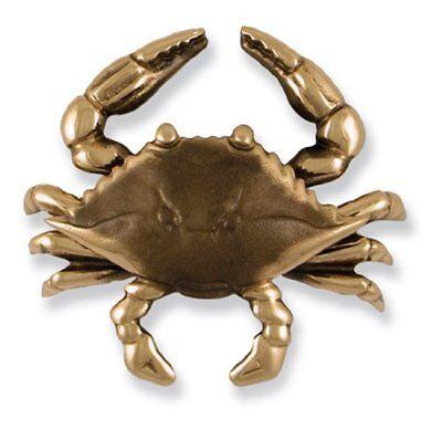Michael Healey Blue Crab Door Knocker Brass Premium Size Brand New