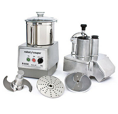 Robot Coupe R602 Combination Continuous Feed Food Processor W 7 Qt. Ss Bowl