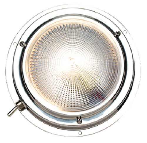 LED 5 Inch Stainless Steel Surface Mount Dome Cabin Light for Boats