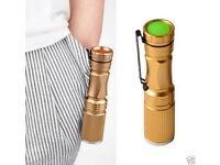 3W MINI GOLD CREE Q5 LED TORCH SUPER BRIGHT FLASHLIGHT WATERPROOF ZOOM LENS LOOK