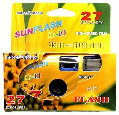 200 SunFlash Single-Use One Time Use Disposable 35mm Film Camera with Flash