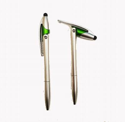 Lot Of 500 Pieces - Dart Style Silver And Green Barrel Pens With Stylus - 55829