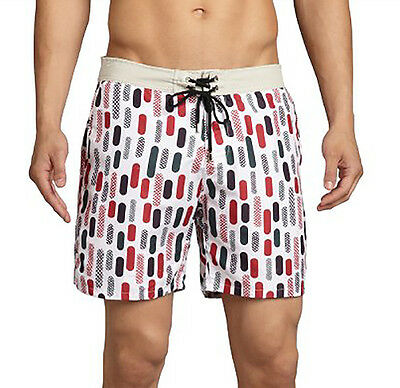 Mr. Swim Herren Badeanzug Badehose Boardshorts Retro Rockabilly Größe 34