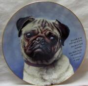 Danbury Mint Pug Plate