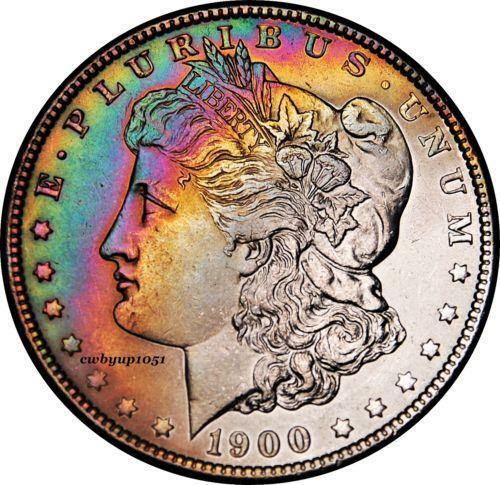 Toned Morgan Dollars Ebay