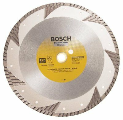 Premium Plus Diamond Blade - Bosch DB1263 Premium Plus 12-Inch Dry or Wet Cutting Turbo Diamond Saw Blade