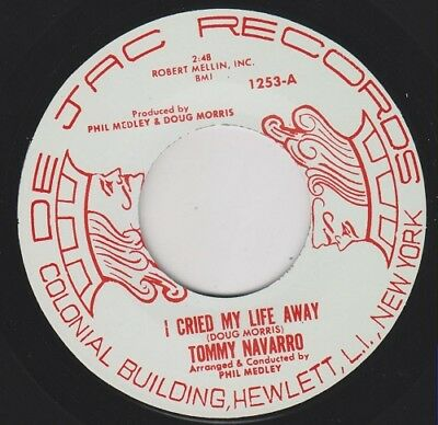 "TOMMY NAVARRO I Cried My Life Away Re. 7"" 1963 Thumpin' Latin Northern Soul HEAR"