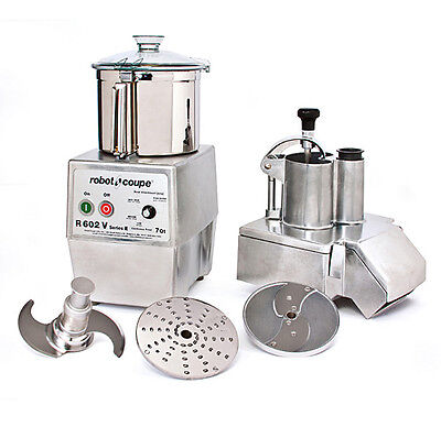 Robot Coupe R602vv Variable Speed Combination Food Processor W 7 Qt. Ss Bowl