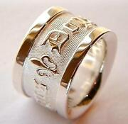 Mens Heavy Silver Ring