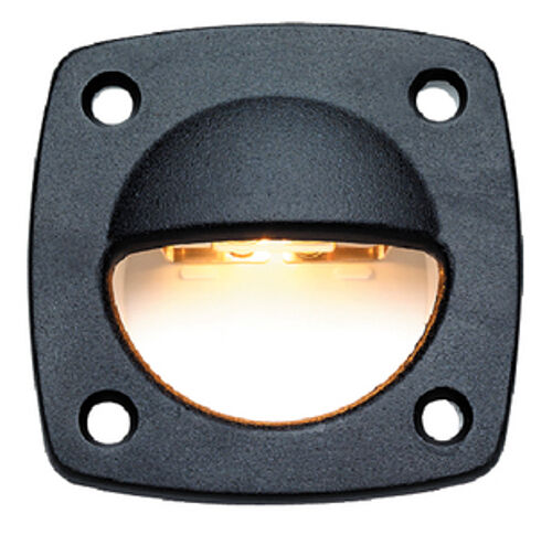 Flush Mount Black Courtesy, Utility and Accent Light for Boats