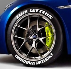 TIRE LETTERS STICKERS - CUSTOM - 1