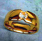 Titanium Gold Cluster Rings for Men