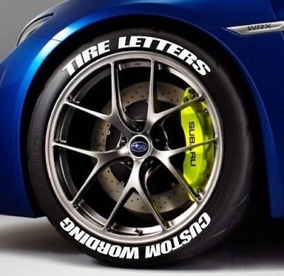Rubber Tire Letters  Any Word 0 5  Stickers Fits Camry Audi Goodyear  Wagon