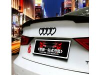 1X Black Replacement Heart Love Logo Audi Emblem Rear Sticker Fit For A3 A4 A6