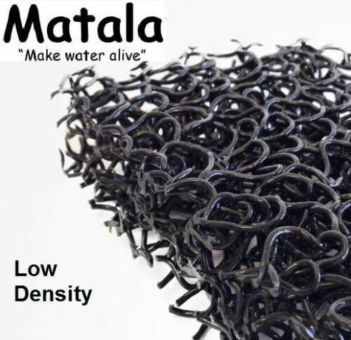 "Black Matala Pond Filter Mat 10""x 24"" Low Density Coarse Water Filtration Media"