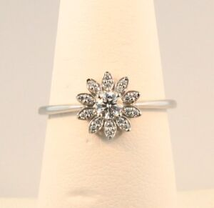 Tiffany & Co. Enchant Flower Diamond Ring in Platinum Size 4.5 and 6
