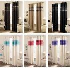 Cream Purple Curtains