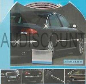 bande baguette adhesive voiture auto portiere chromee pour. Black Bedroom Furniture Sets. Home Design Ideas