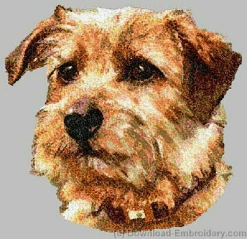 Embroidered Short-Sleeved T-Shirt - Norfolk Terrier DLE2492  Sizes S - XXL