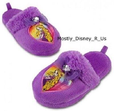 Neu Disney Store Tangled Rapunzel Plüsch Pantoffeln 9/10 2/3 Purple Hausschuhe ()