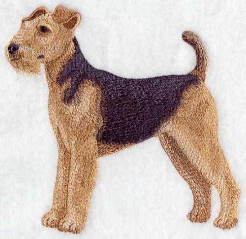 Large Embroidered Zippered Tote - Airedale Terrier C2665