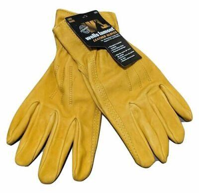 Leather Work Gloves Premium Wells Lamont All Purpose Medium
